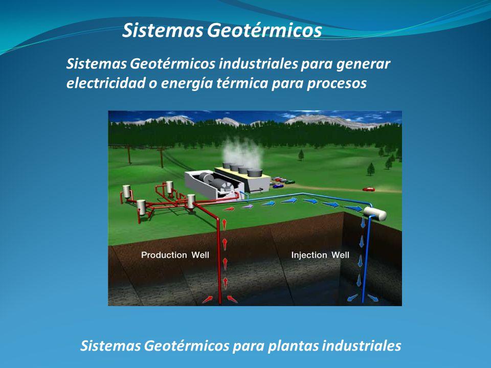 Sistemas Geotérmicos Sistemas Geotérmicos para plantas industriales Sistemas Geotérmicos industriales para generar electricidad o energía térmica para