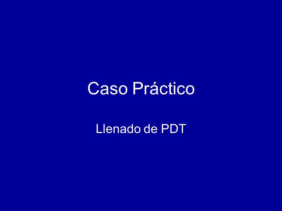 Caso Práctico Llenado de PDT