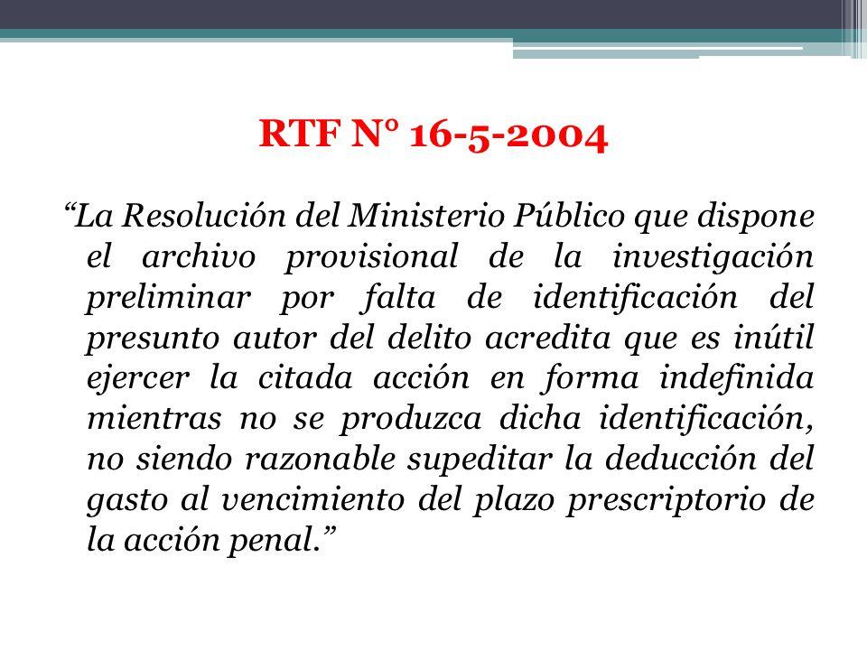 La Resolución del Ministerio Público que dispone el archivo provisional de la investigación preliminar por falta de identificación del presunto autor