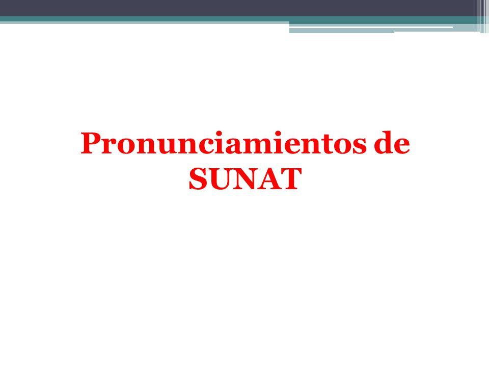 Pronunciamientos de SUNAT