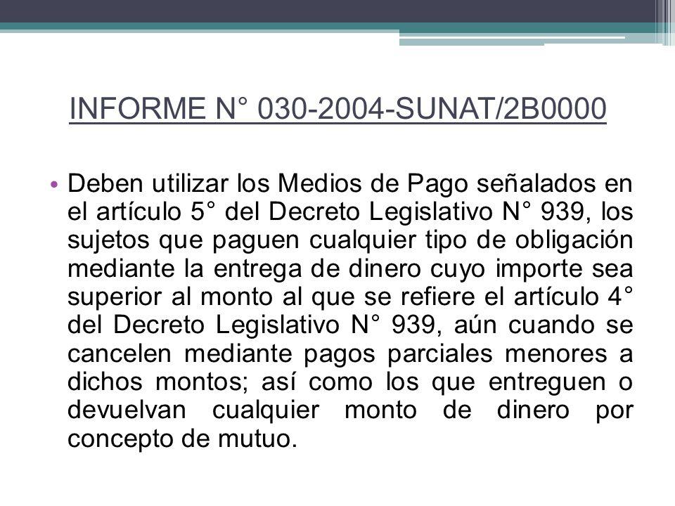 Deben utilizar los Medios de Pago señalados en el artículo 5° del Decreto Legislativo N° 939, los sujetos que paguen cualquier tipo de obligación medi
