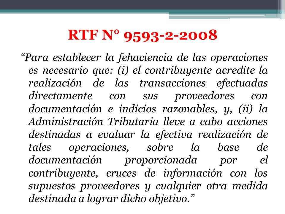 Para establecer la fehaciencia de las operaciones es necesario que: (i) el contribuyente acredite la realización de las transacciones efectuadas direc