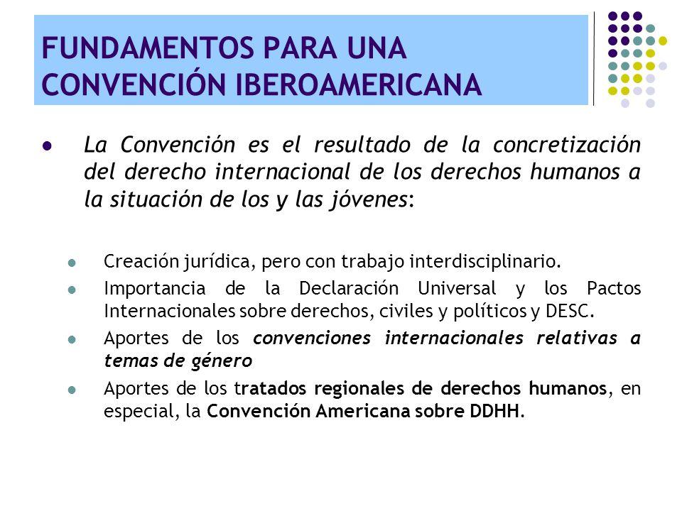 FUNDAMENTOS PARA UNA CONVENCIÓN IBEROAMERICANA La Convención es el resultado de la concretización del derecho internacional de los derechos humanos a