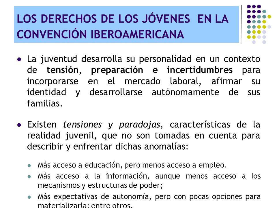 LOS DERECHOS DE LOS JÓVENES EN LA CONVENCIÓN IBEROAMERICANA Búsqueda de autonomía o emancipación juvenil: El derecho a formar una familia.