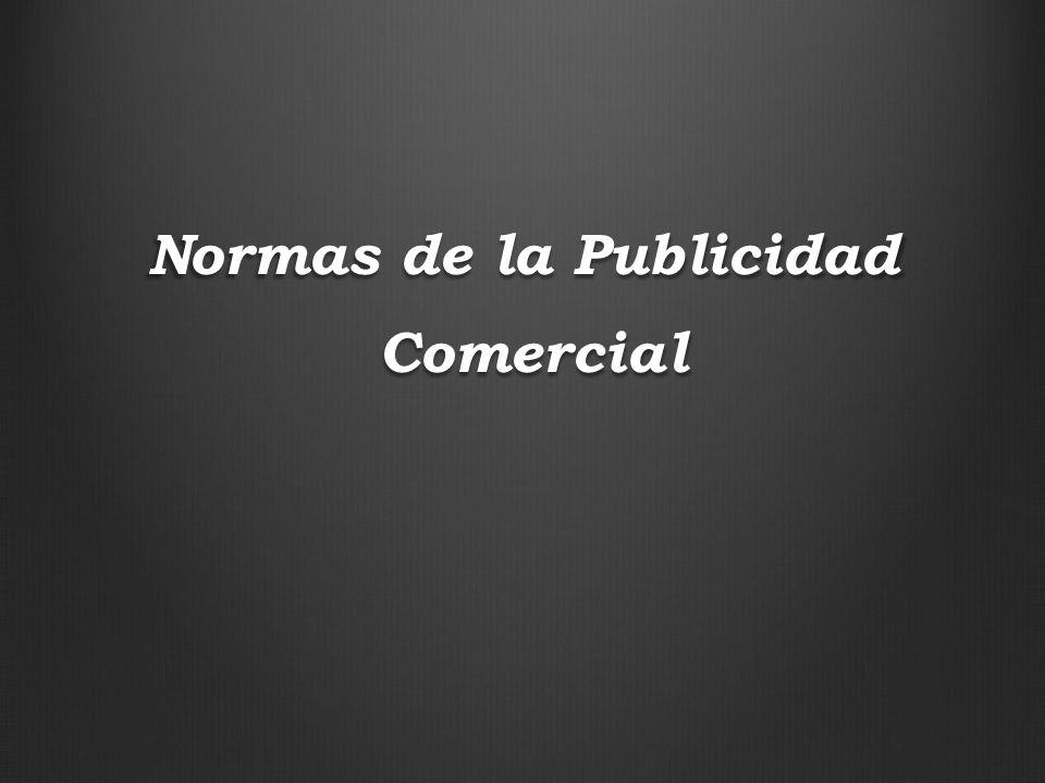 Normas de la Publicidad Comercial Comercial