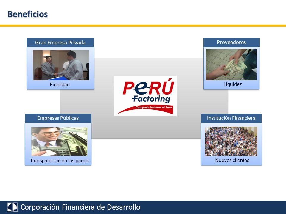 Corporación Financiera de Desarrollo Potencialidades Financiamiento Capital de trabajo Financiamiento Activo Fijo
