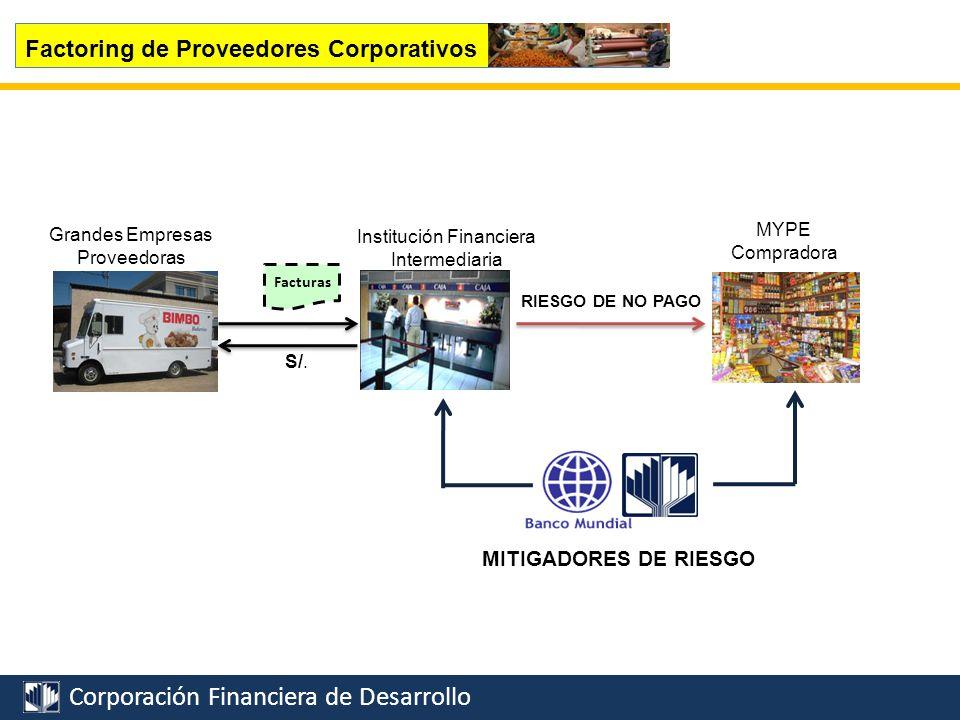 Corporación Financiera de Desarrollo Riesgo de no pago Cuenta abierta como condición de pago Financiamiento IFICarta de crédito o Cobranzas SEPYMEX Factoring Internacional Limitaciones de la PYME Exportadora