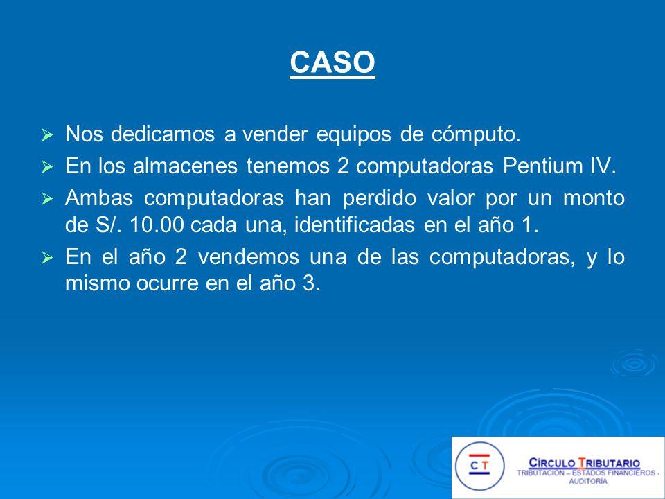 CASO Nos dedicamos a vender equipos de cómputo.En los almacenes tenemos 2 computadoras Pentium IV.