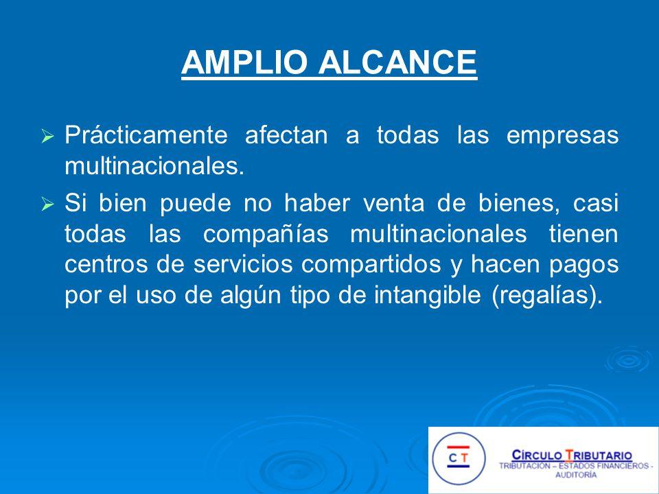 AMPLIO ALCANCE Prácticamente afectan a todas las empresas multinacionales.