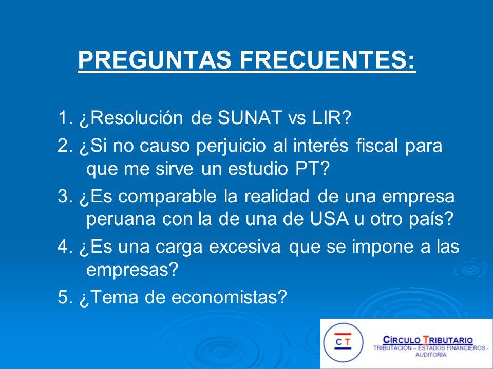 1.¿Resolución de SUNAT vs LIR. 2.