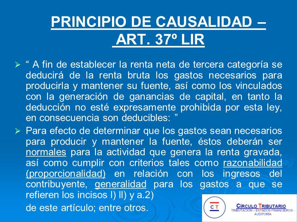 PRINCIPIO DE CAUSALIDAD – ART.