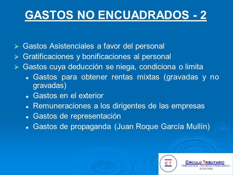 GASTOS DE VENTA – 4 Gastos de publicidad de un laboratorio: agasajos y obsequios para estudiantes de la profesión médica.