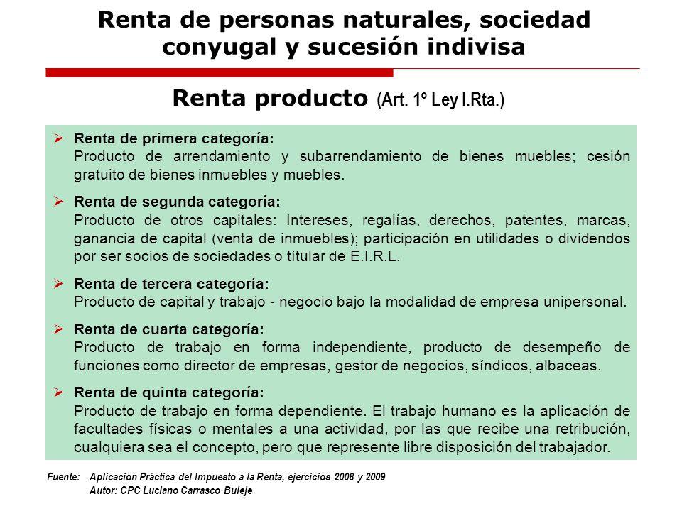 Fuente:Aplicación Práctica del Impuesto a la Renta, ejercicios 2008 y 2009 Autor: CPC Luciano Carrasco Buleje a)Las indemnizaciones por vacaciones no gozadas (Art.