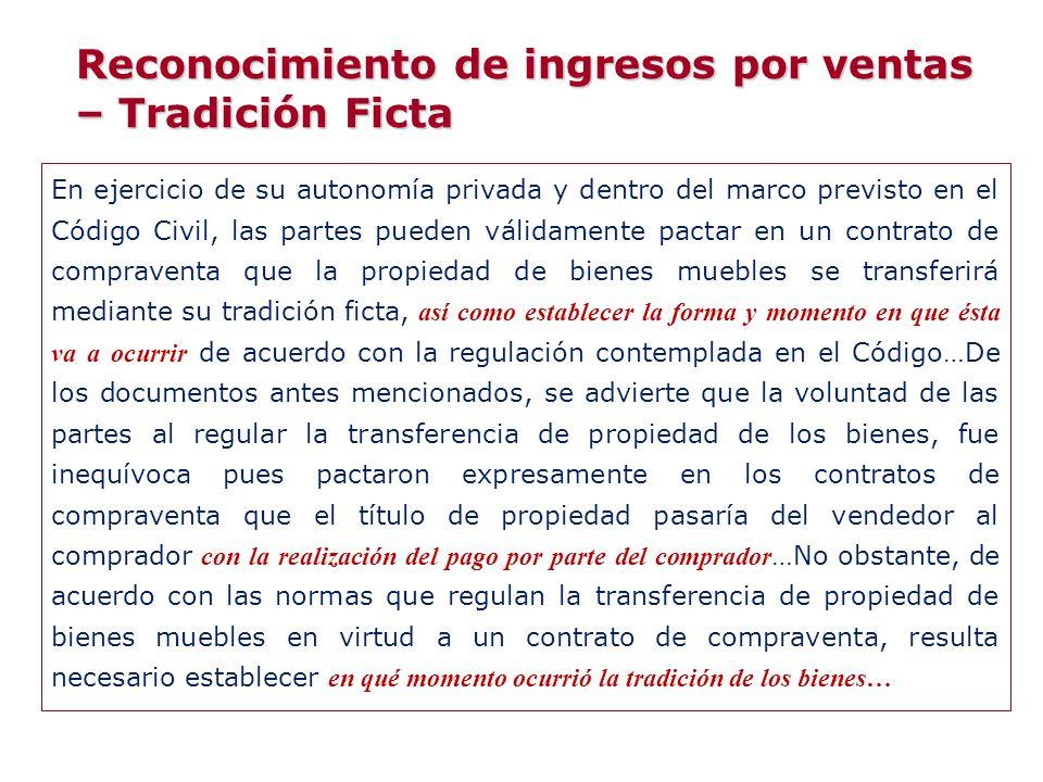 En ejercicio de su autonomía privada y dentro del marco previsto en el Código Civil, las partes pueden válidamente pactar en un contrato de compravent