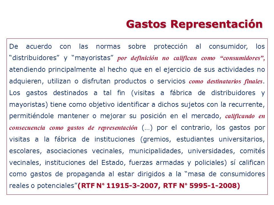 (RTF N° 11915-3-2007, RTF N° 5995-1-2008) De acuerdo con las normas sobre protección al consumidor, los distribuidores y mayoristas por definición no