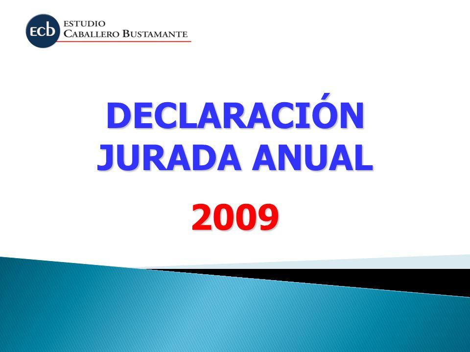 DECLARACIÓN JURADA ANUAL 2009
