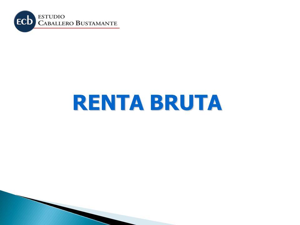 RENTA BRUTA