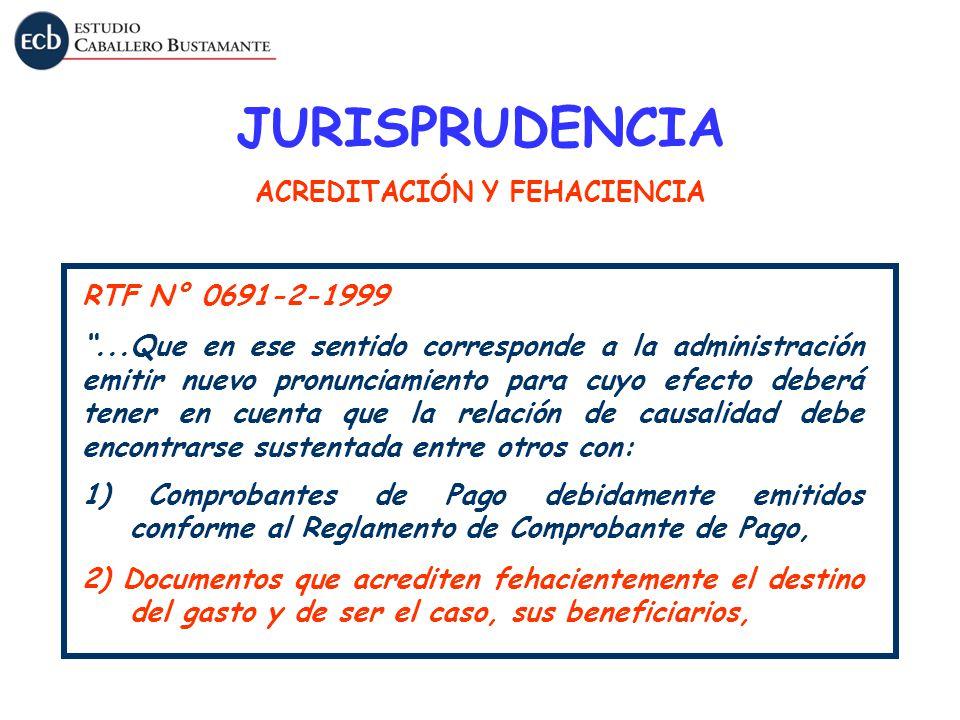 RTF N° 0691-2-1999...Que en ese sentido corresponde a la administración emitir nuevo pronunciamiento para cuyo efecto deberá tener en cuenta que la re