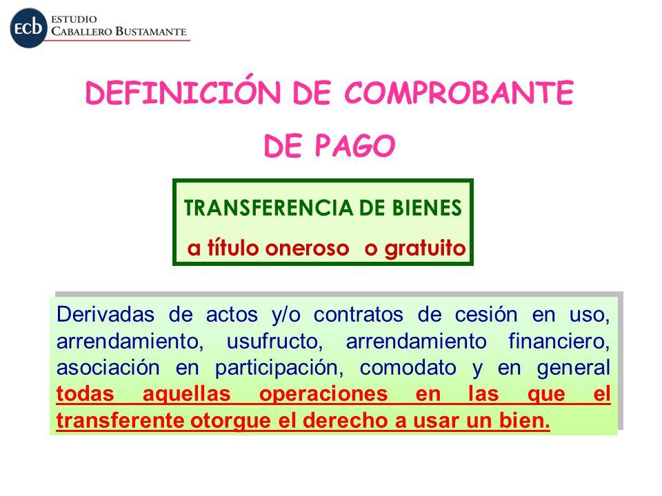 Derivadas de actos y/o contratos de cesión en uso, arrendamiento, usufructo, arrendamiento financiero, asociación en participación, comodato y en gene
