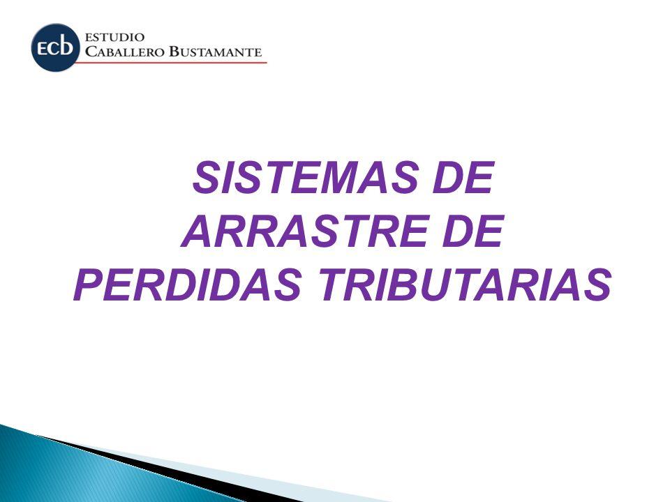 SISTEMAS DE ARRASTRE DE PERDIDAS TRIBUTARIAS