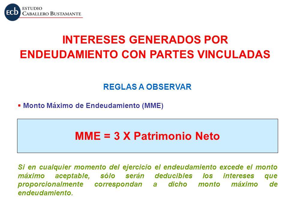 REGLAS A OBSERVAR Monto Máximo de Endeudamiento (MME) Si en cualquier momento del ejercicio el endeudamiento excede el monto máximo aceptable, sólo se