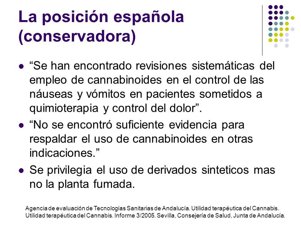 Principal restricción: El uso de marihuana no es gratuito (efectos tóxicos) Dependen de la ruta de administración, duración de la exposición, edad, si