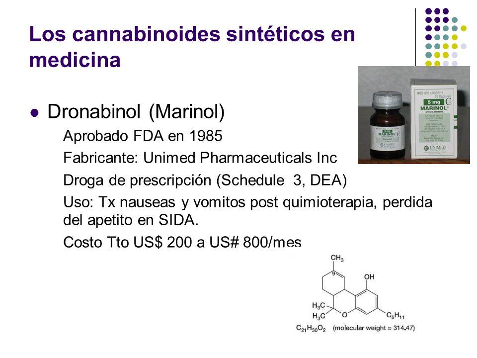 La posición española (conservadora) Se han encontrado revisiones sistemáticas del empleo de cannabinoides en el control de las náuseas y vómitos en pa