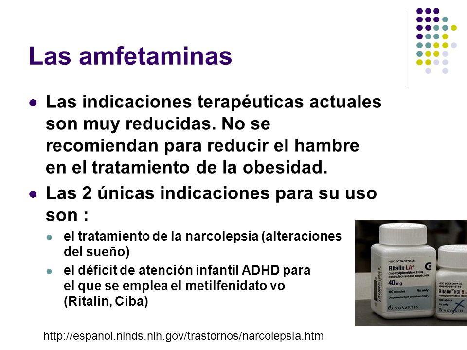 Las amfetaminas son aminas simpatomiméticas de fórmula química estructural semejante a la adrenalina. Las más utilizadas, de donde derivan las más mod