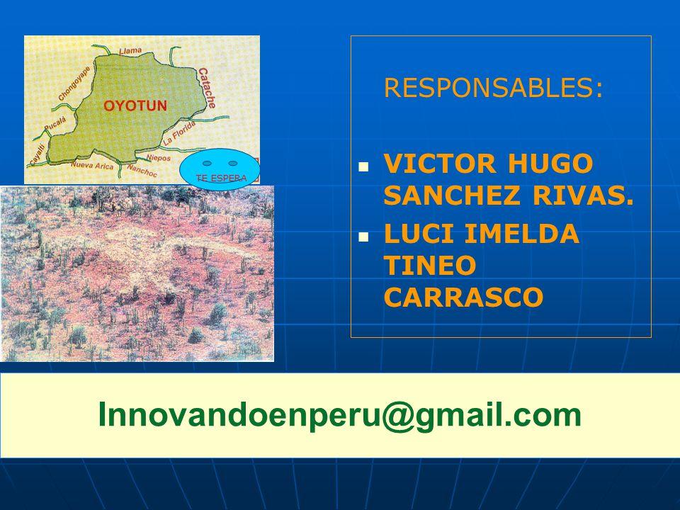 RESPONSABLES: VICTOR HUGO SANCHEZ RIVAS. LUCI IMELDA TINEO CARRASCO Innovandoenperu@gmail.com Nº 03 TE ESPERA