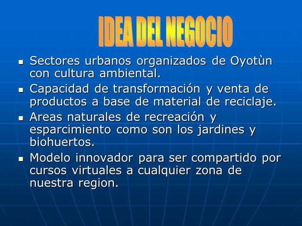 Sectores urbanos organizados de Oyotùn con cultura ambiental. Sectores urbanos organizados de Oyotùn con cultura ambiental. Capacidad de transformació