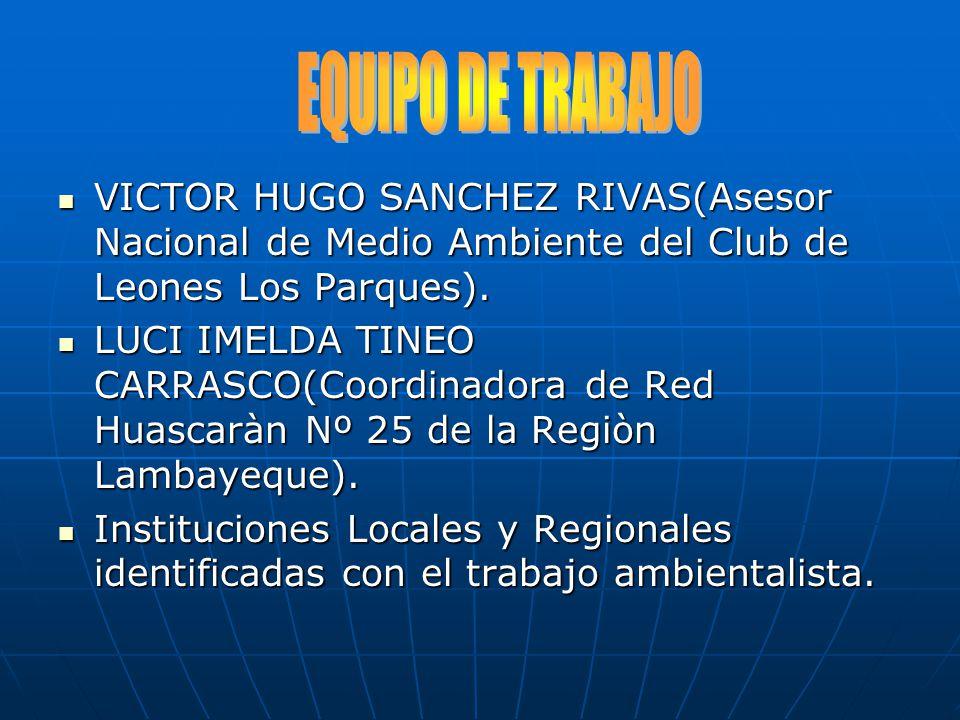 VICTOR HUGO SANCHEZ RIVAS(Asesor Nacional de Medio Ambiente del Club de Leones Los Parques). VICTOR HUGO SANCHEZ RIVAS(Asesor Nacional de Medio Ambien