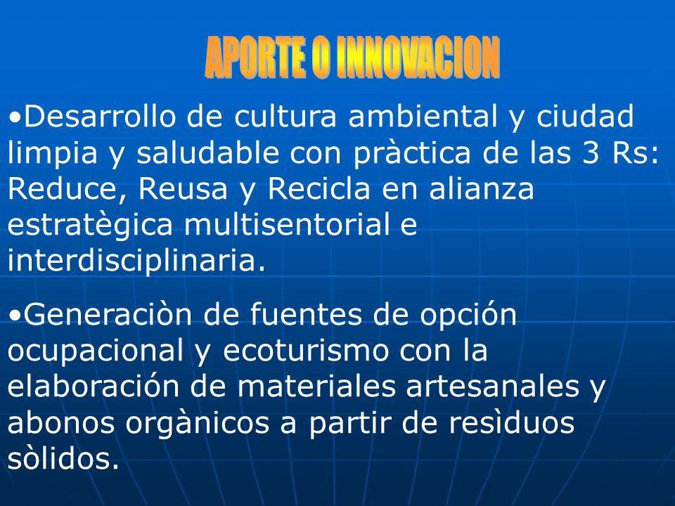 RESULTADOS 2004 CON PROGRAMA RECICLA OBTENCION DEL PREMIO CONAM