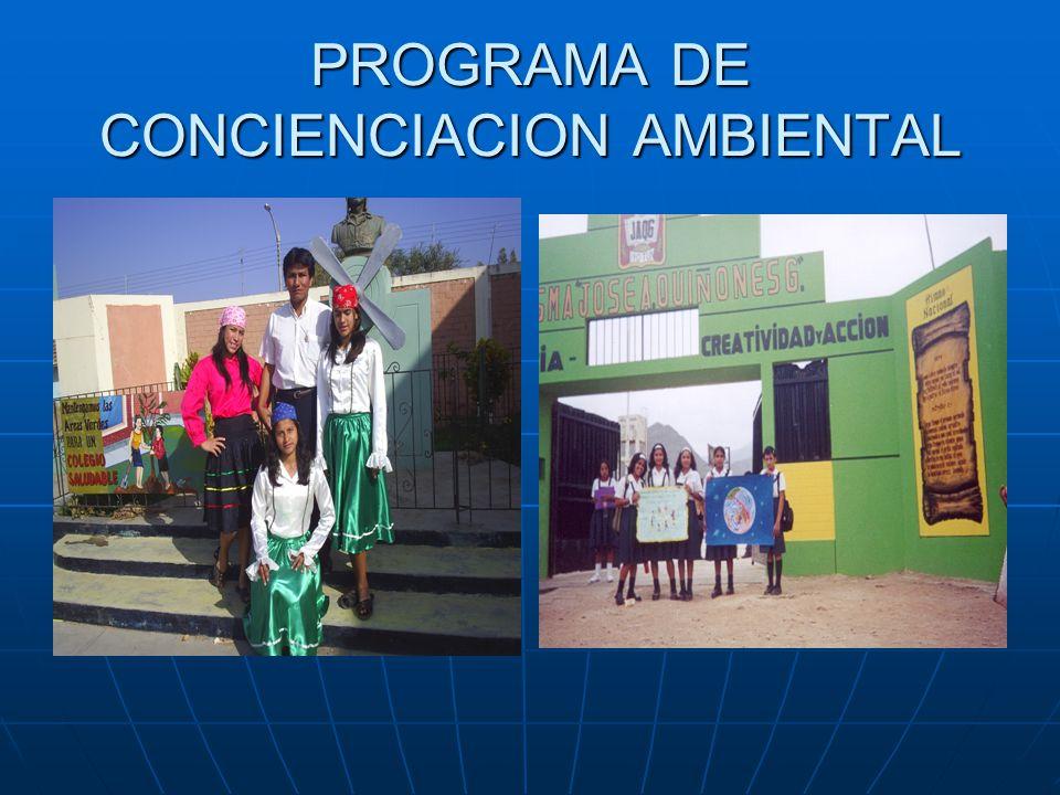 CONAM INSTITUCIONES COMPROMETIDAS CON EL PLAN DE ACCION AMBIENTAL 2005 CLUB DE LEONES CHICLAYO LOS PARQUES VIDEOTECA BACKUS GOBIERNO REGIONAL CAR LAMB