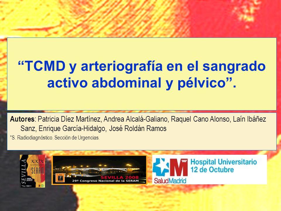 Autores : Patricia Díez Martínez, Andrea Alcalá-Galiano, Raquel Cano Alonso, Laín Ibáñez Sanz, Enrique García-Hidalgo, José Roldán Ramos *S. Radiodiag