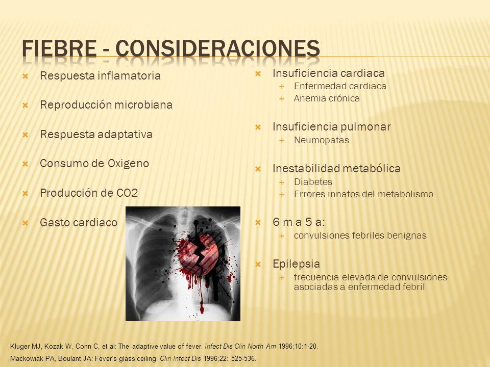 Pico febril único: no asociado a infección.