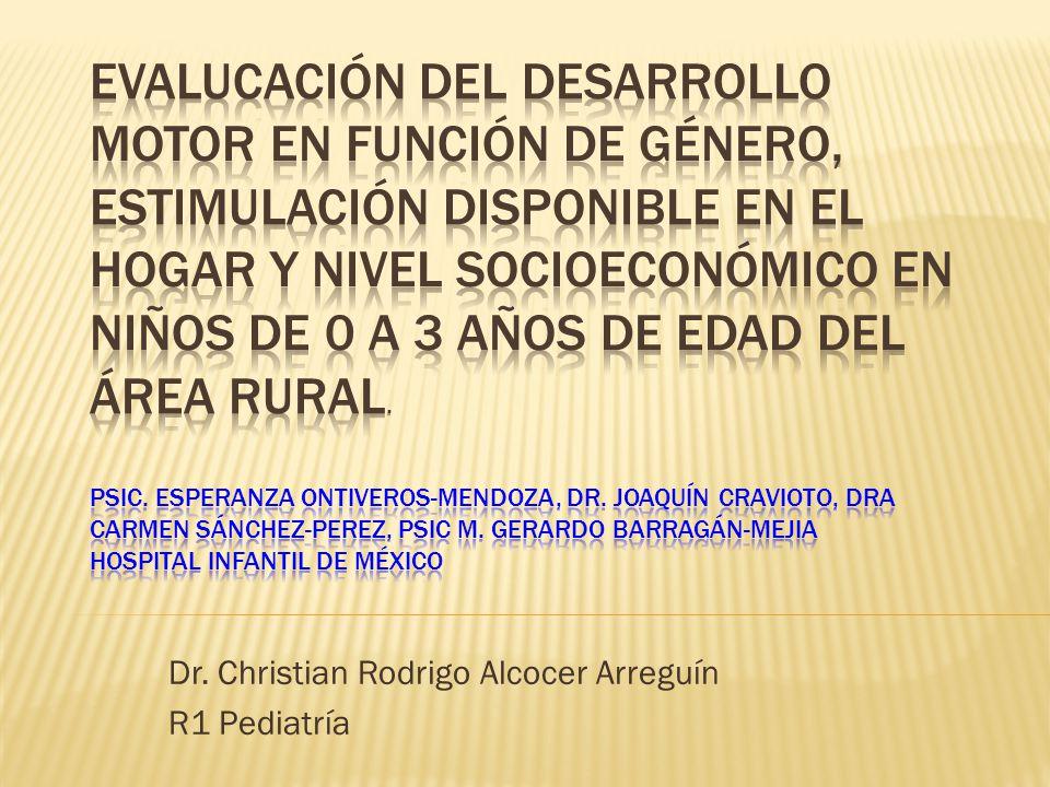 Dr. Christian Rodrigo Alcocer Arreguín R1 Pediatría