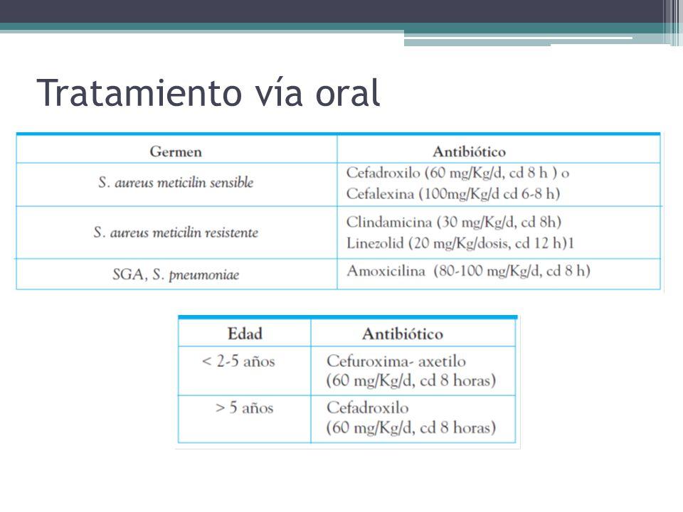 Tratamiento vía oral
