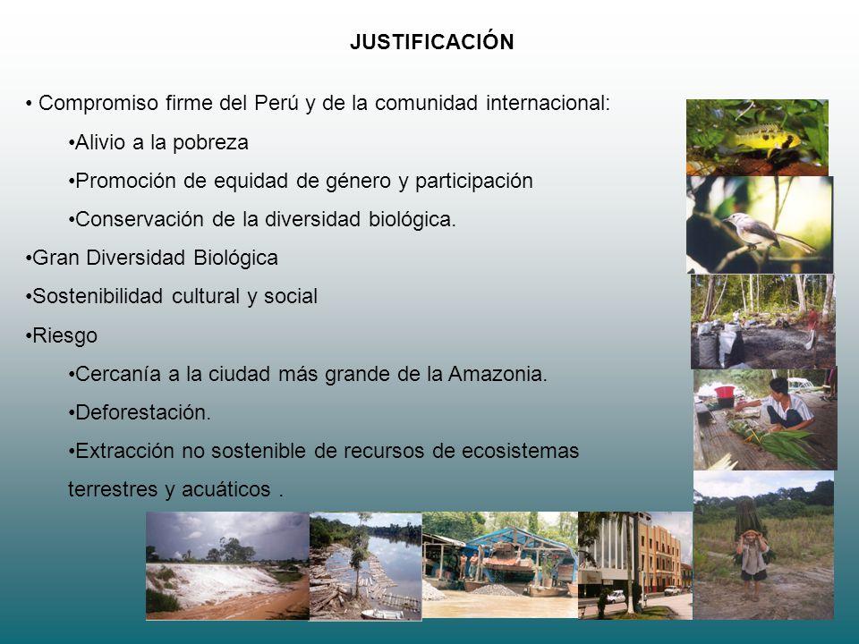 3 JUSTIFICACIÓN Compromiso firme del Perú y de la comunidad internacional: Alivio a la pobreza Promoción de equidad de género y participación Conserva