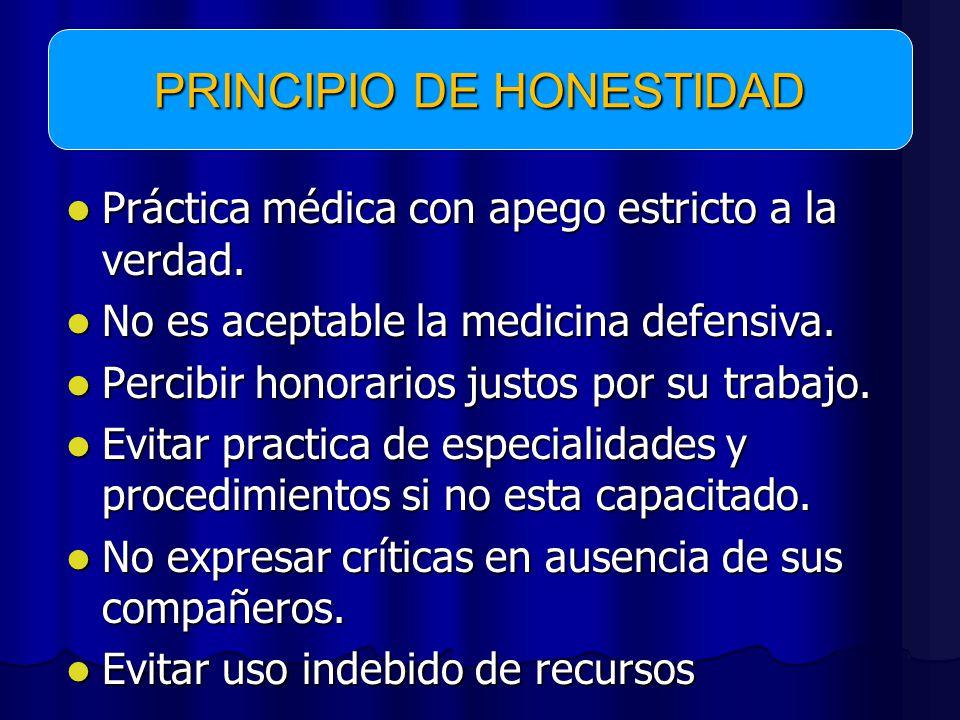 Práctica médica con apego estricto a la verdad.Práctica médica con apego estricto a la verdad.