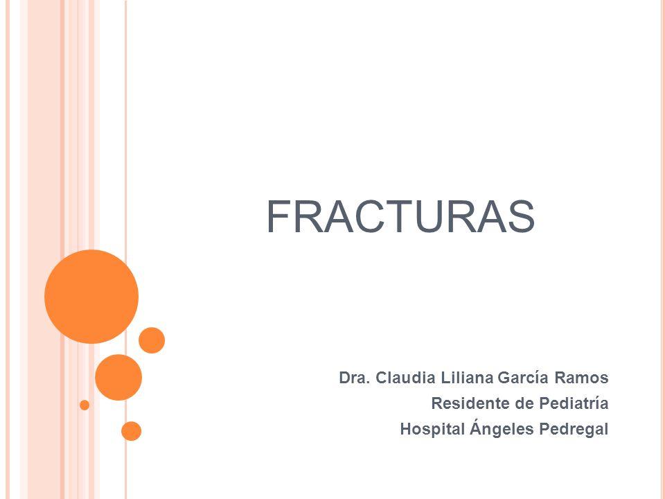 FRACTURAS Dra. Claudia Liliana García Ramos Residente de Pediatría Hospital Ángeles Pedregal