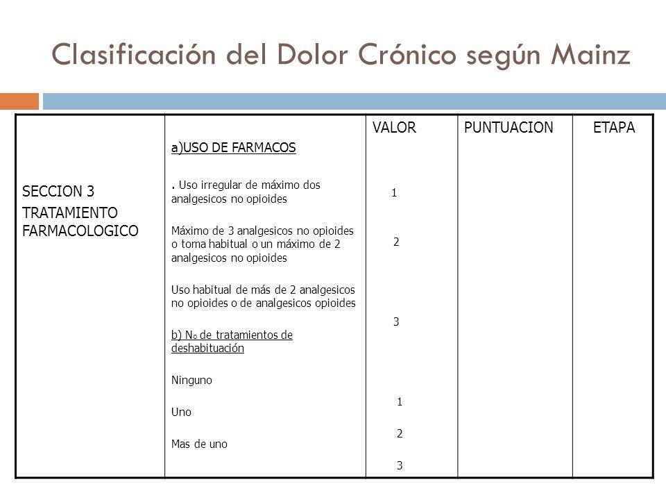 SECCION 3 TRATAMIENTO FARMACOLOGICO a)USO DE FARMACOS.