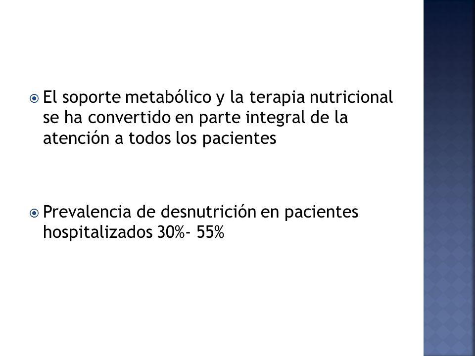 Indicaciones: Otras causas; con requerimientos elevados: Politraumatizados Desnutrición grave.