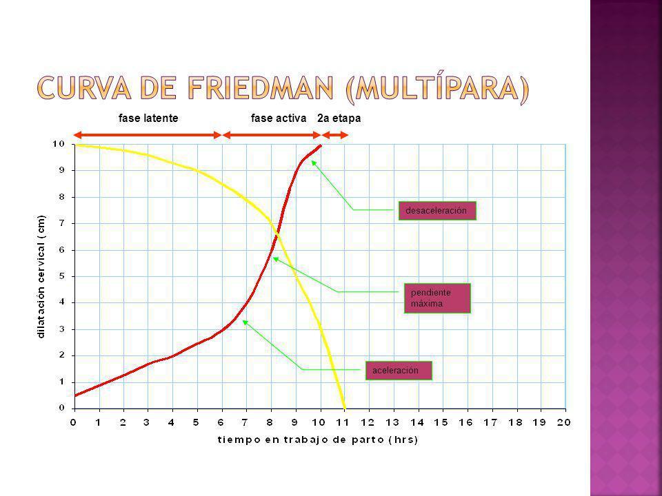 fase latentefase activa aceleración pendiente máxima pendiente máxima desaceleración 2a etapa