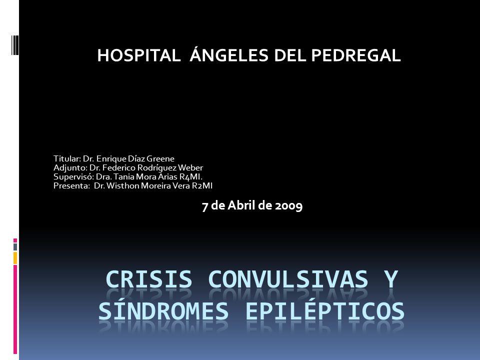 Titular: Dr. Enrique Díaz Greene Adjunto: Dr. Federico Rodríguez Weber Supervisó: Dra. Tania Mora Arias R4MI. Presenta: Dr. Wisthon Moreira Vera R2MI