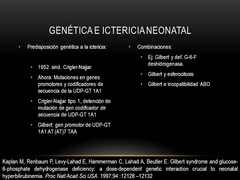 Predisposición genética a la ictericia: 1952. sind.