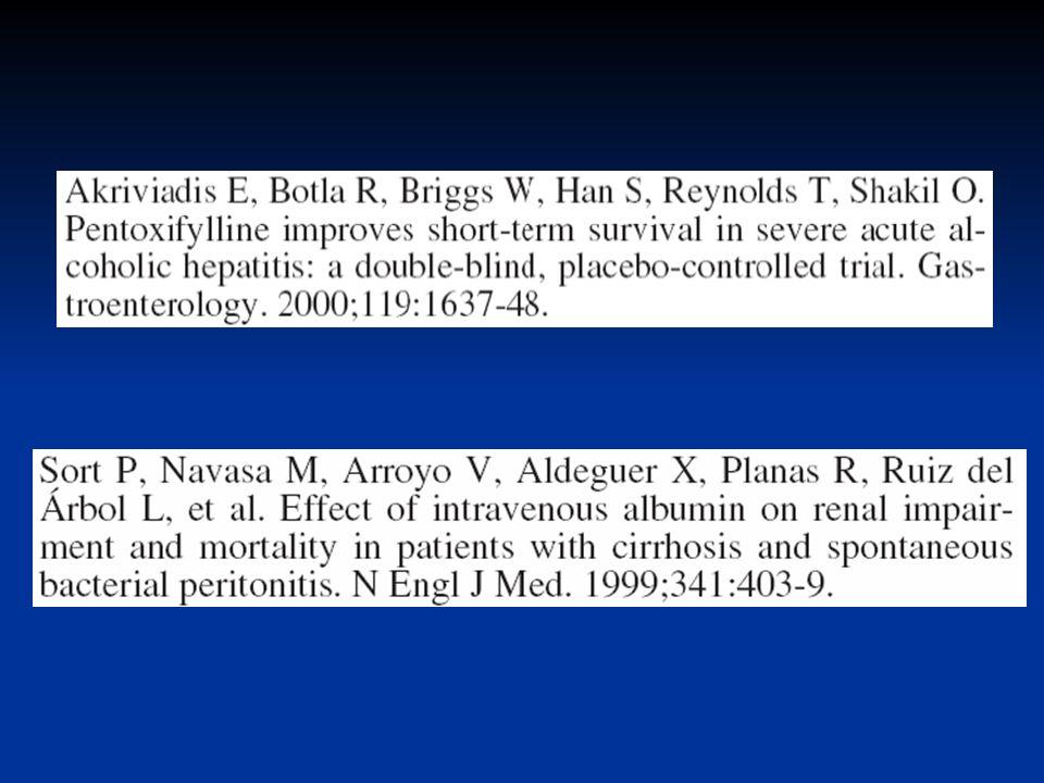 PRONÓSTICO De todas las complicaciones del cirrótico el SHR es la peor La expectativa de vida es muy baja y la recuperación espontanea es muy rara DETERMINANTES DEL PRONOSTICO TIPO DE SHR MELD CHILD Gin s, Arroyo, Rod, The Lancet 2003; 362:1819 27 Ginés, Rodés, 1819-