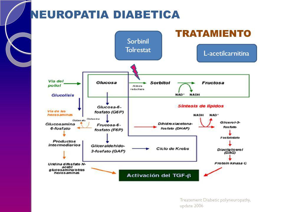 Sorbinil Tolrestat NEUROPATIA DIABETICA TRATAMIENTO L-acetilcarnitina Treatement Diabetic polyneuropathy, update 2006