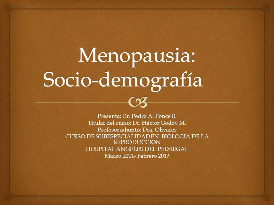 Presenta: Dr. Pedro A. Ponce B. Titular del curso: Dr. Héctor Godoy M. Profesor adjunto: Dra. Olivares CURSO DE SUBESPECIALIDAD EN BIOLOGIA DE LA REPR