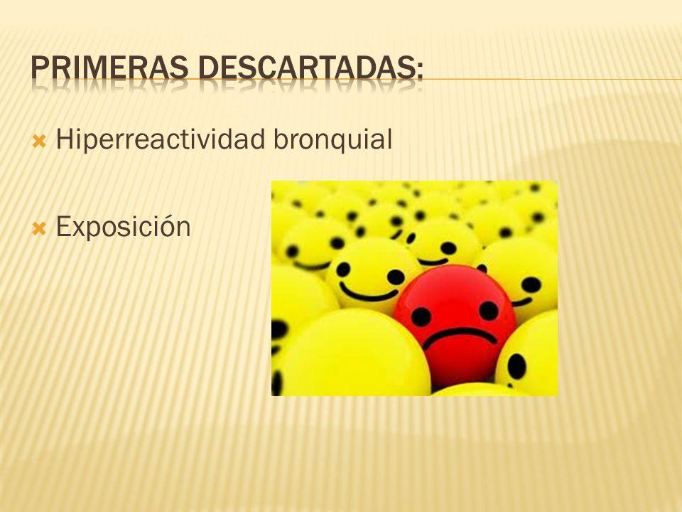 Hiperreactividad bronquial Exposición