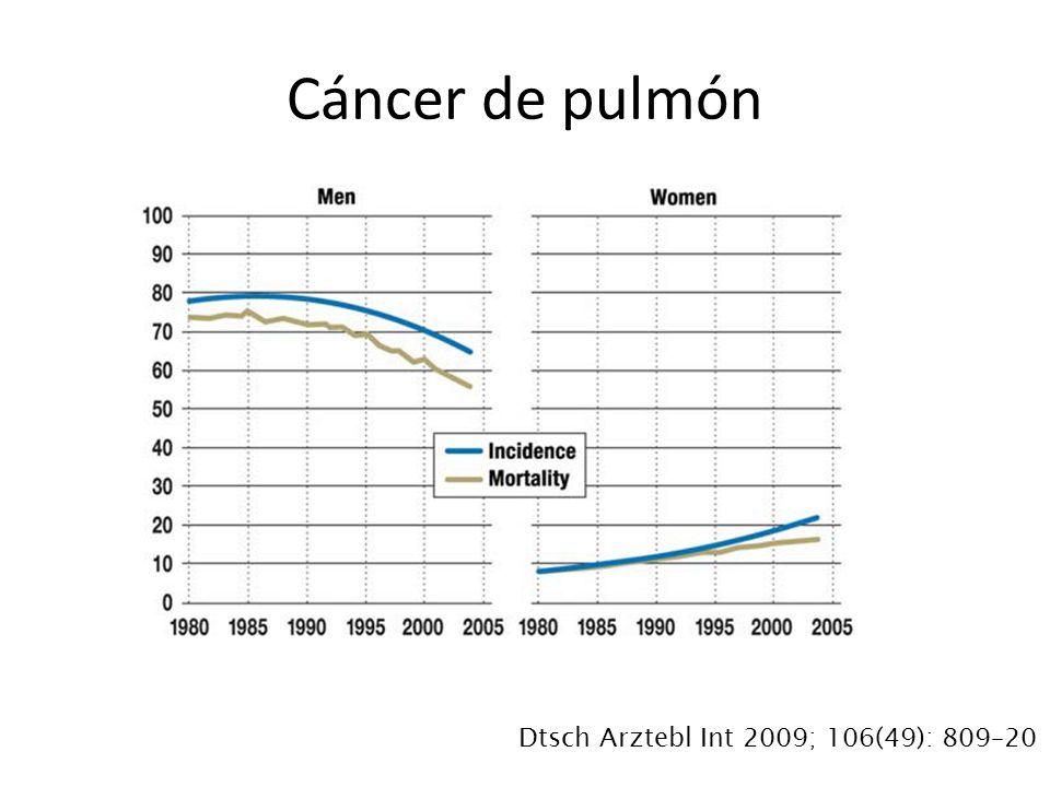 Cáncer de pulmón Dtsch Arztebl Int 2009; 106(49): 809–20